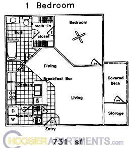 apartments at 700 s basswood drive in bloomington in 1 bedroom